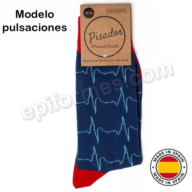 Calcetines de sanidad estampados pulsaciones