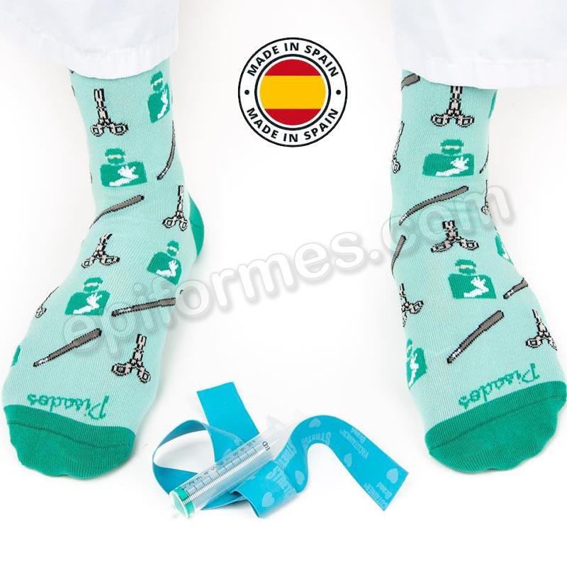 Calcetines de sanidad estampados sin anestesia