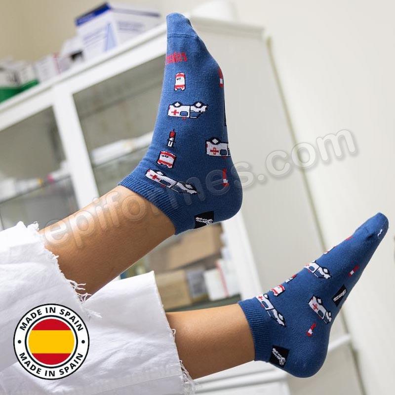 Calcetines de sanidad estampados urgencias
