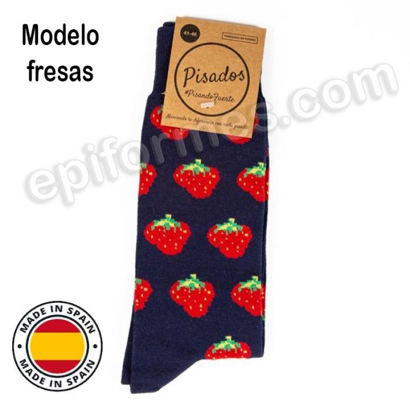 Calcetines de sanidad estampados fresas