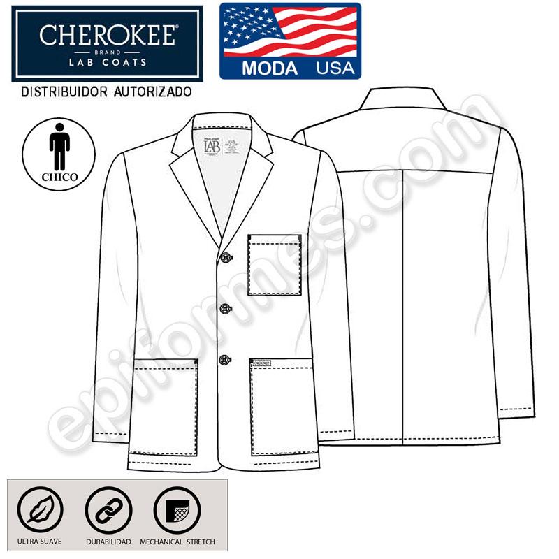 Bata sanitaria masculina estilo blazer