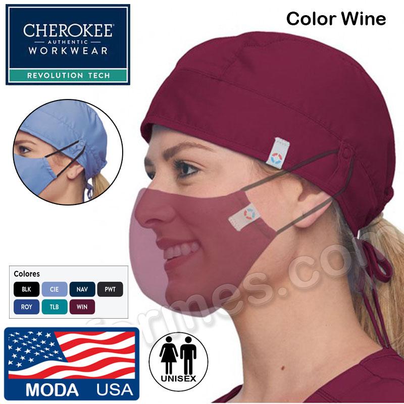Gorro cirujano, elástico Cherokee. 7 colores