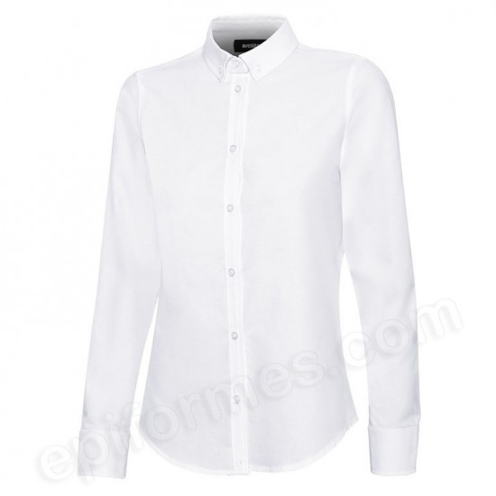Camisa oxford stretch mujer