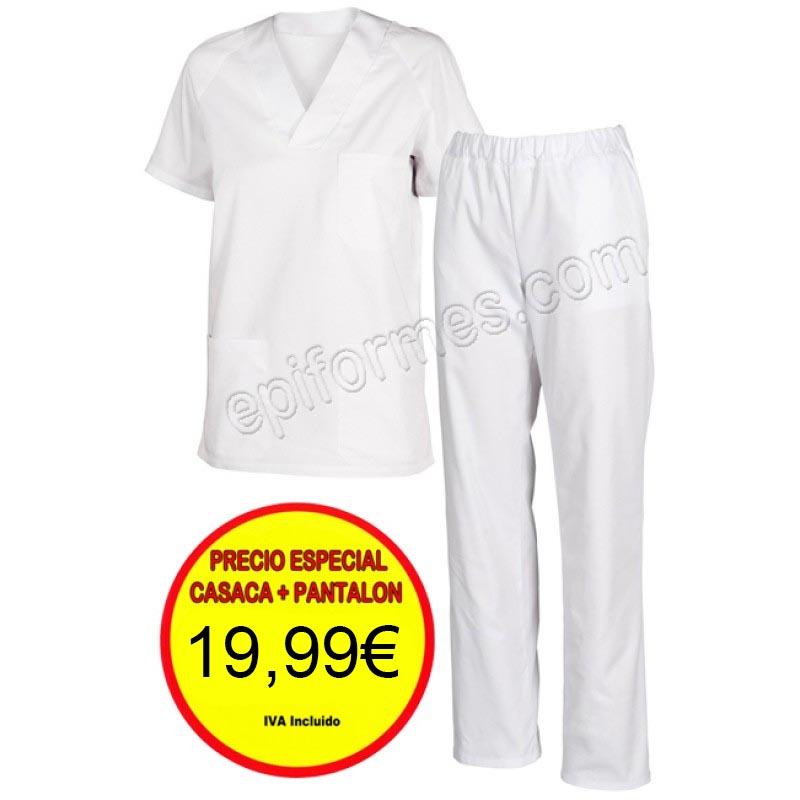 Pijama sanitario Blanco o celeste Completo