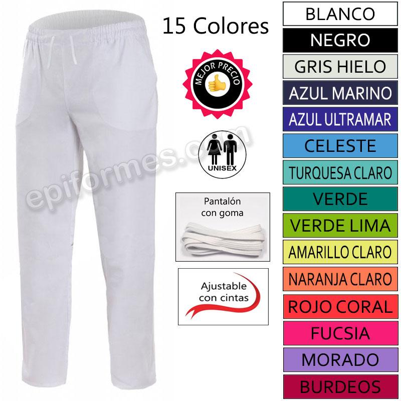 Pantalón goma y cinta ajustable 15 colores