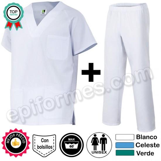 Pijama sanitario clásico Completo 3 colores