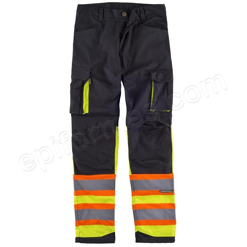 Pantalón combinado con bandas reflectante-fluores...