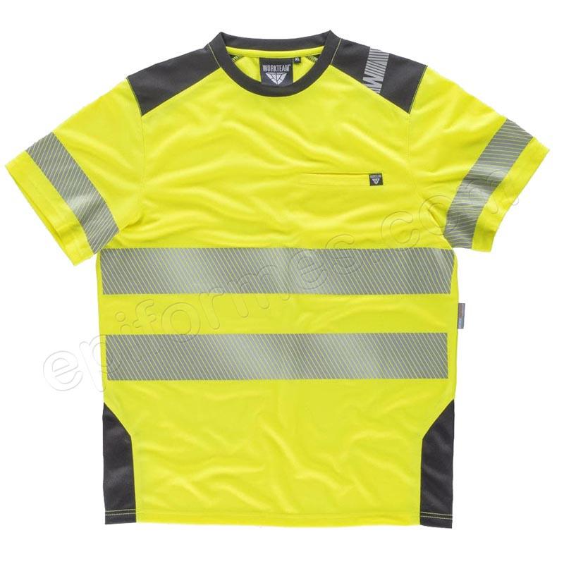 Camiseta workshell de alta visibilidad