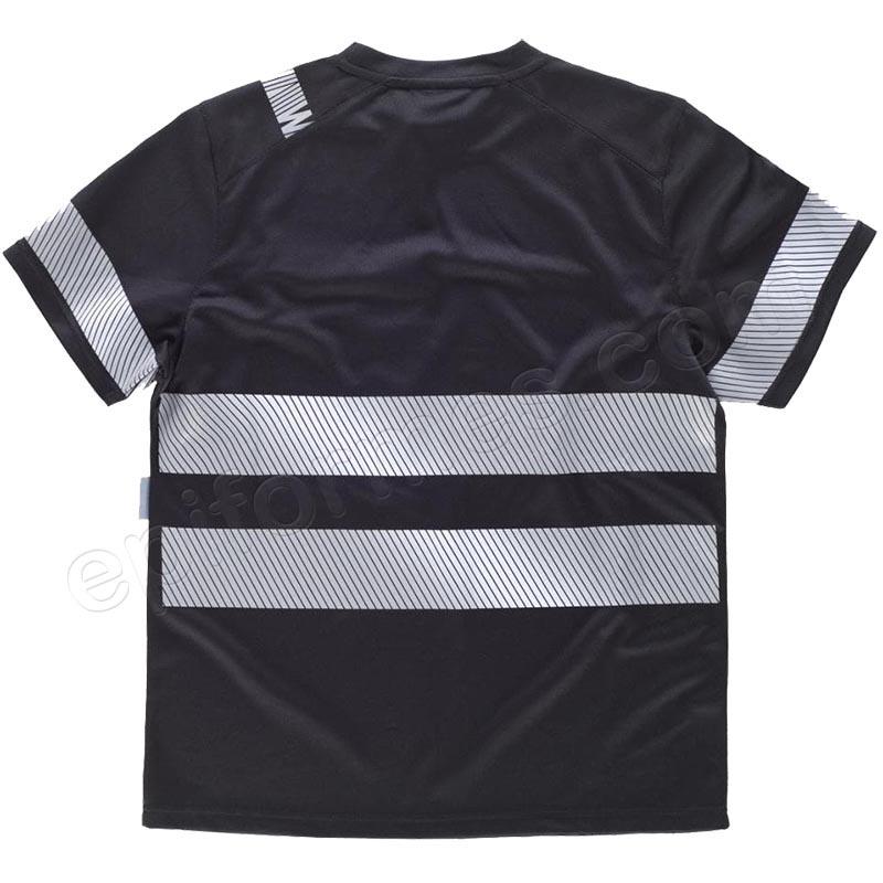 Camiseta con cintas reflectantes segmentadas