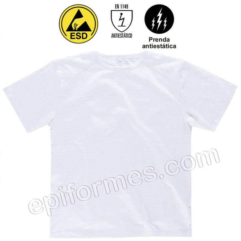 Camiseta de trabajo, antiestática
