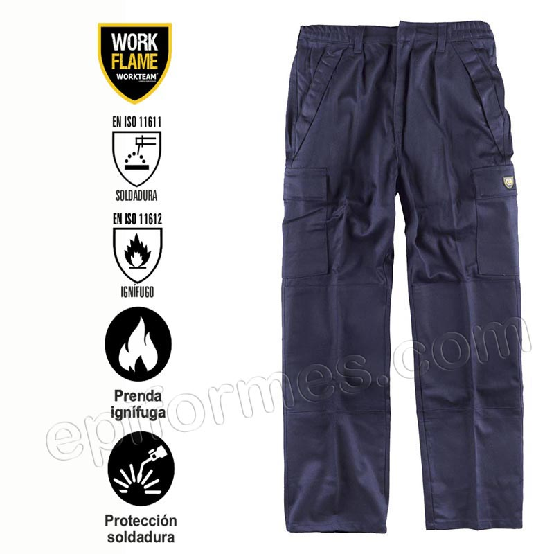 Pantalón ignífugo de algodón