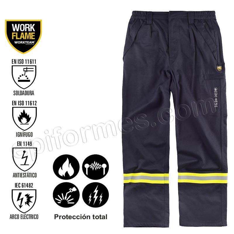 Pantalón ignífugo protección total