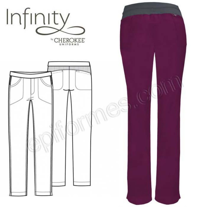 Pantalón sanitario femenino elástico 8 colores