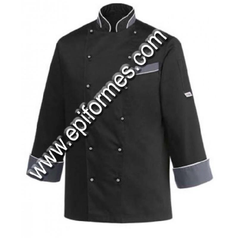 Chaqueta cocinero egochef black heat