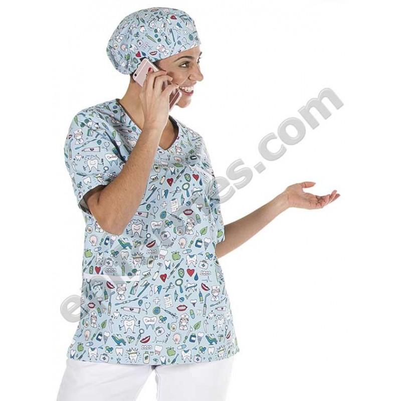 Casaca sanitaria dental,microfibra