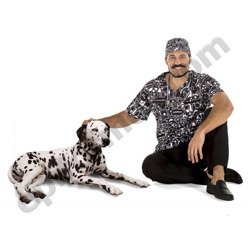 Casaca  sanidad mascotas, microfibra