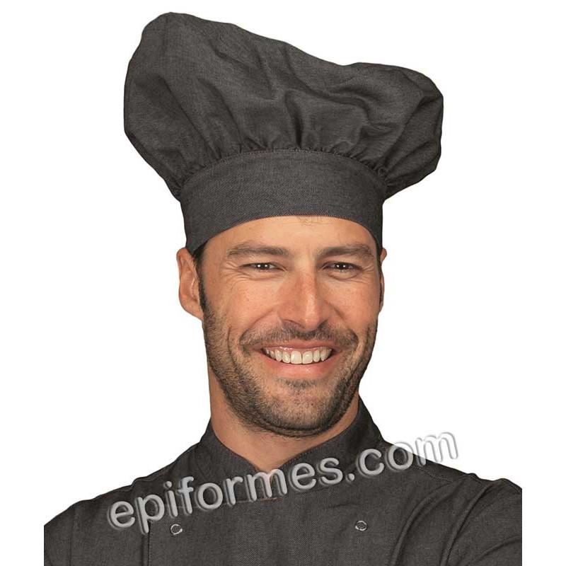 Gorro de cocinero champiñón vaquero negro