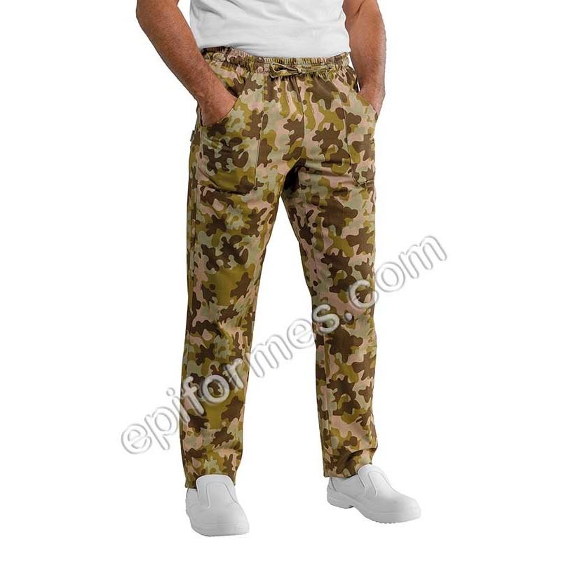 Pantalón  cocinero camuflaje