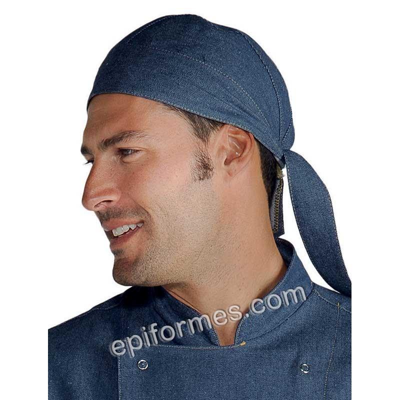 Bandana  cocinero tejana azul