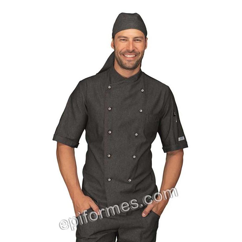 Chaqueta cocinero tejana negra