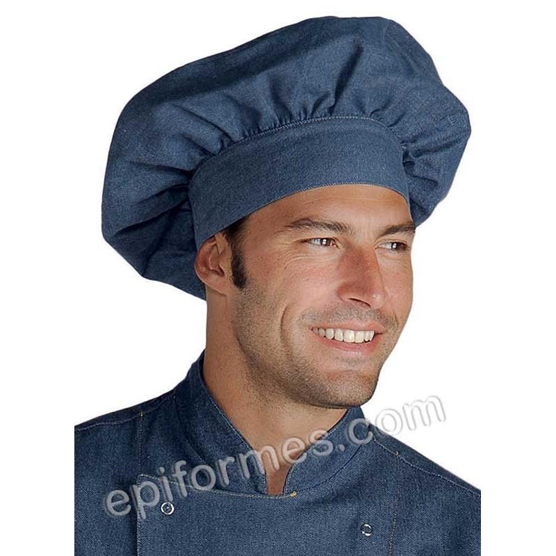 Gorro de cocinero champiñón vaquero azul