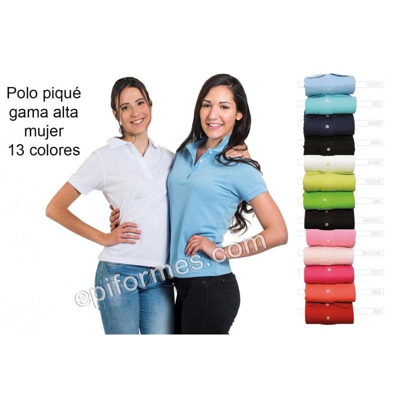 Polo de trabajo de mujer 13 colores