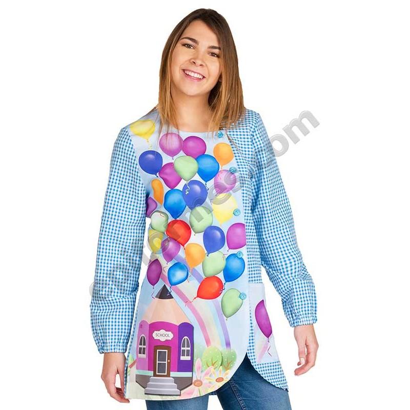 Babi de maestra estampada globos
