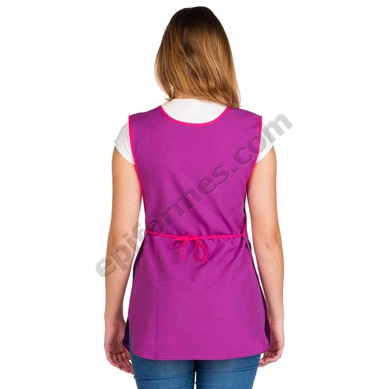 Estola maestra amapola en bolsillo lila