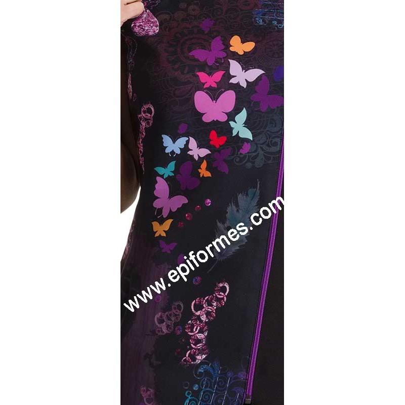 Casaca mariposas colores