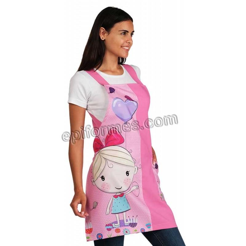 Estola maestra niña globo rosa