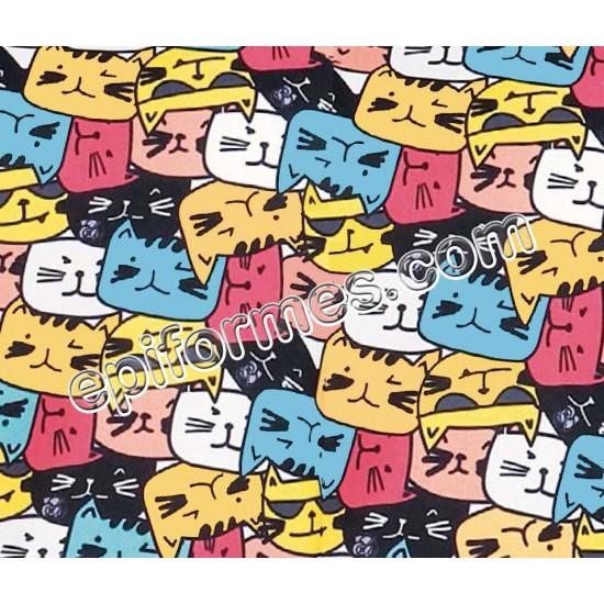 Gorro cirujano estampado gatos