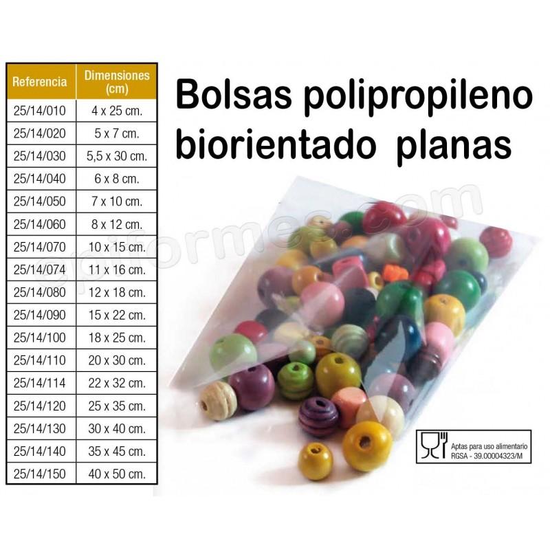 1000 Bolsas polipropileno biorentado planas