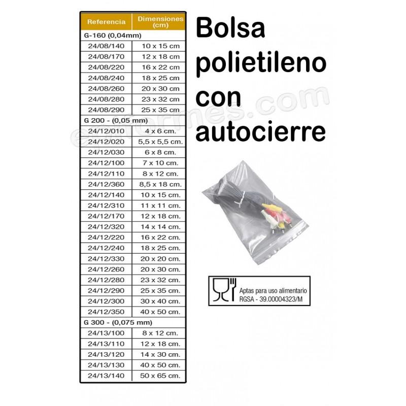 1000 Bolsas polietileno autocierre