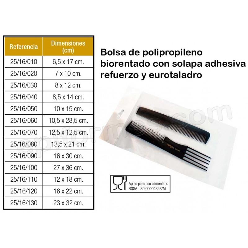 1000 Bolsas polipropileno biorentado con solapa ad...