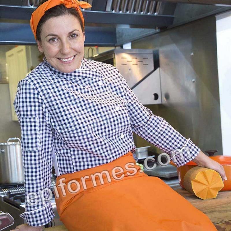 Chaqueta cocinera  cuadros