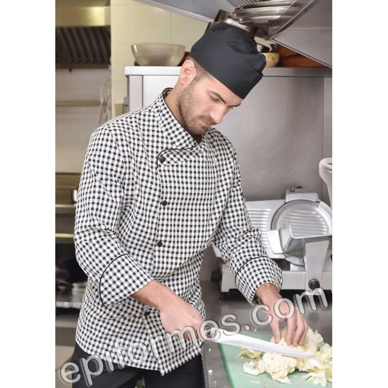 Chaqueta cocinero  cuadros