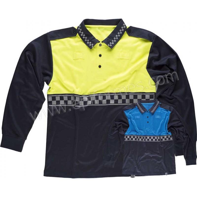 Polo estilo policía municipal manga larga