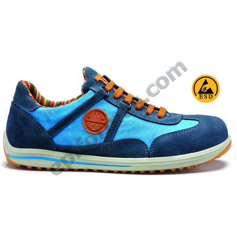 Zapato de seguridad Ravin S1p ante tratado en 3 co...