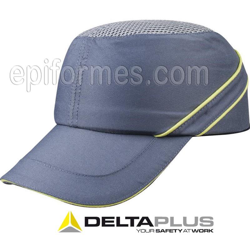 Gorra antichoque Gris/amarillo