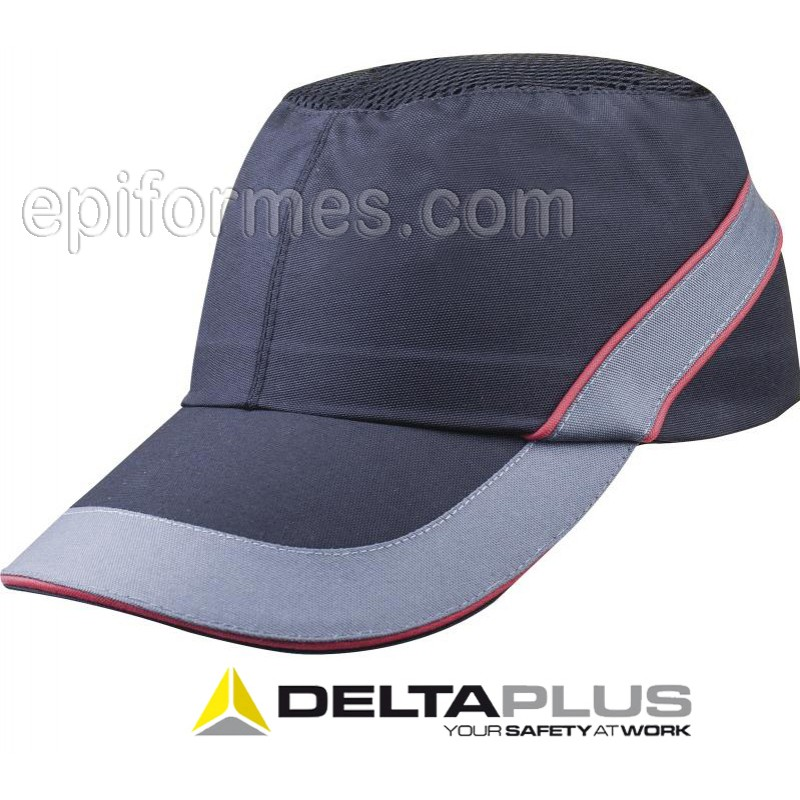 Gorra antichoque Negro/gris/rojo