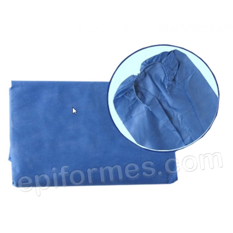 10 Sábanas camilla desechable azul  95x220