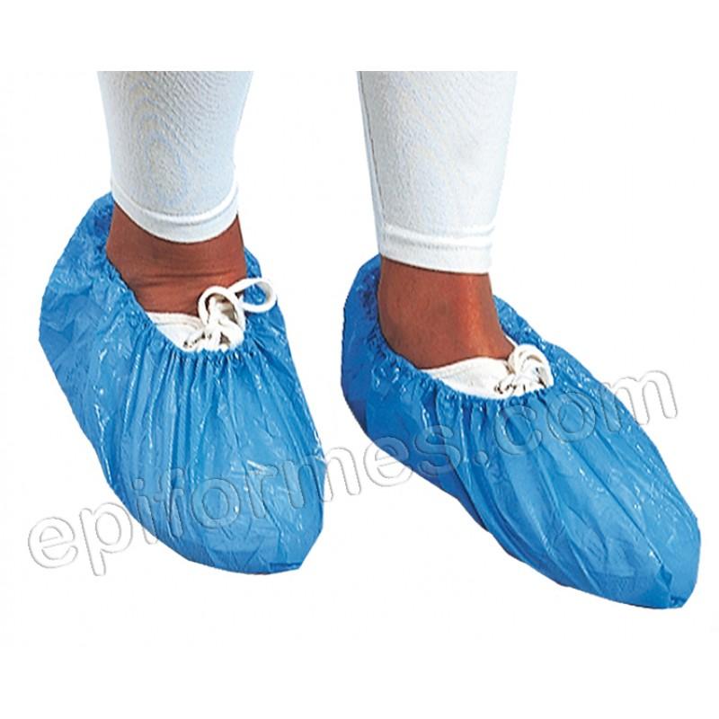 100 cubrezapatos de polietileno en 3 colores