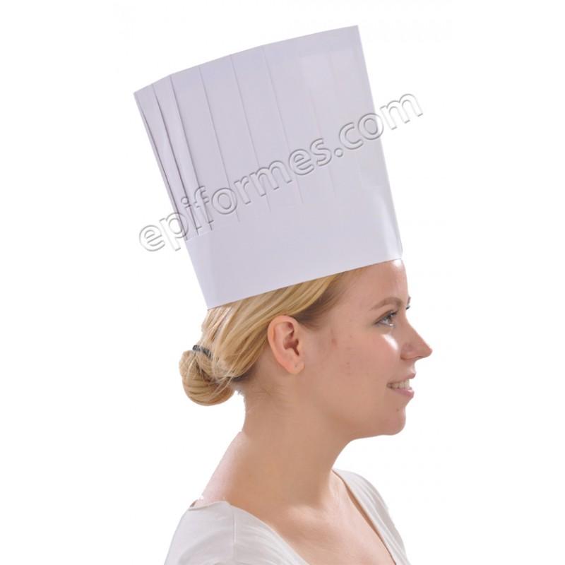 10 gorros de Chef ajustables en papel