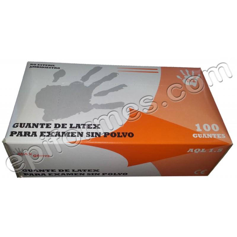 Estuche de 100 guantes de latex con o sin polvo
