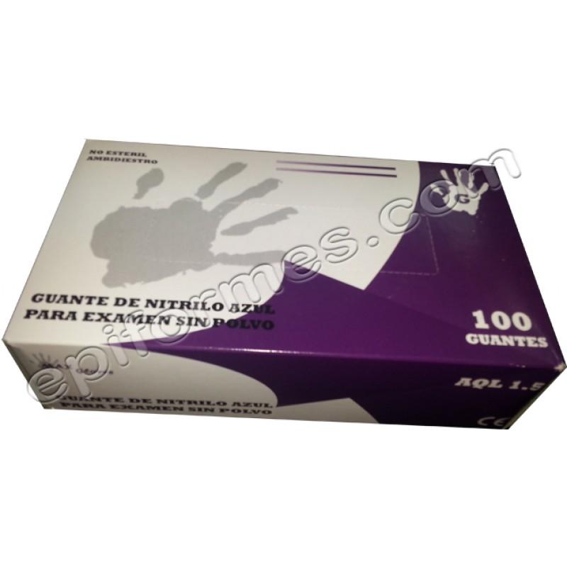 Estuche de 100 guantes de nitrilo sin empolvar