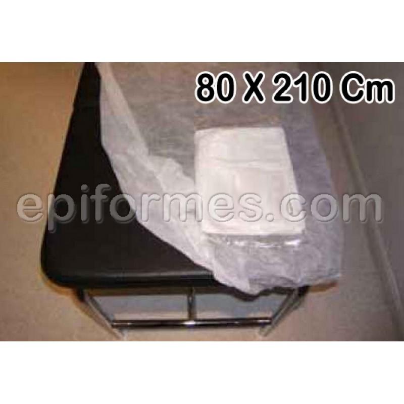 Sábana ajustable camilla desechable 80x210 en SMS