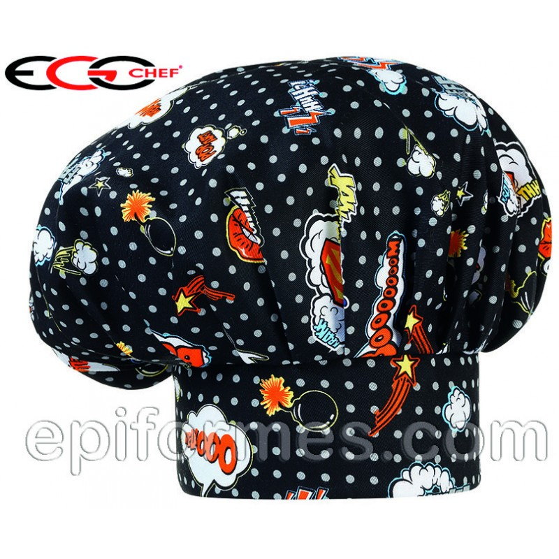 Gorro  chef pop art