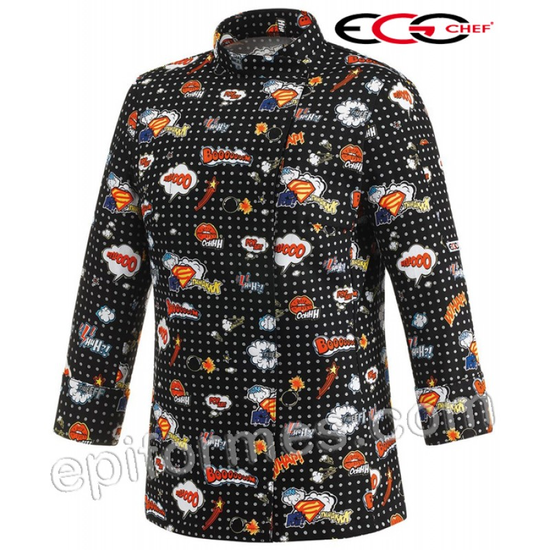 Chaqueta cocinera pop art woman