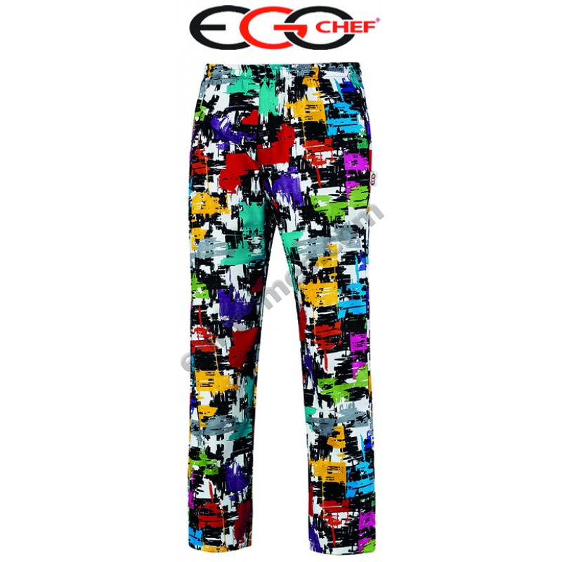 Pantalon chef cocina graphic