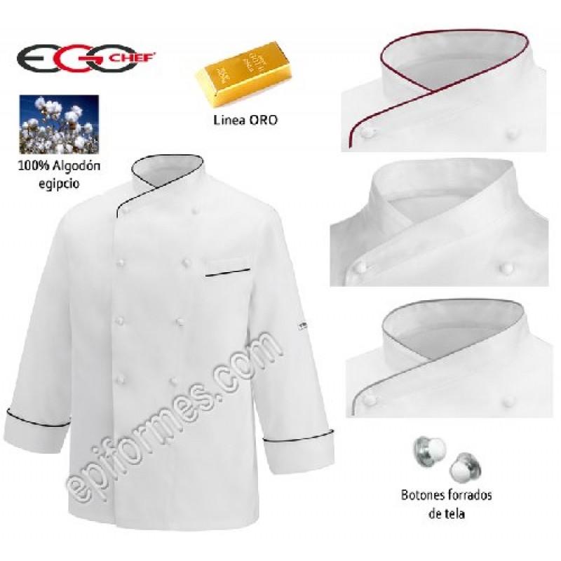 Chaqueta cocina Gerard Linea Oro (100% Algodón Eg...
